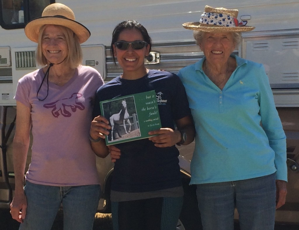 Julie Suhr was in ride camp the night before Run for the Gold. She signed a copy of her newest book for my son, Jakob. My conversation with her daughter, Barbara White, who had asked about Jakob and his horse, Beauty, was what prompted my thoughts before bed that night.